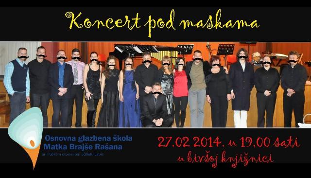 U bivšoj gradskoj knjižnici večeras Koncert pod maskama OGŠ Matka Brajše Rašana