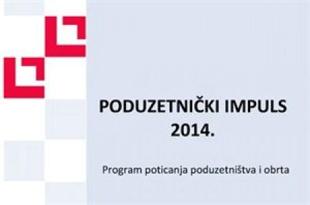 Poziv na edukaciju o programu poticanja i subvencija malog i srednjeg poduzetništva - Poduzetnički impuls 2014.
