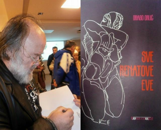 Drago Orlić predstavio knjigu `Sve Renatove Eve` o labinskom umjetniku Renatu Percanu