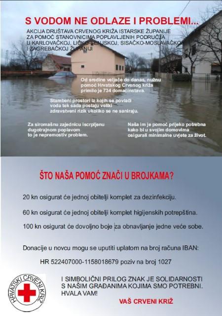 U četvrtak u Labinu humanitarna akcija za poplavljena područja