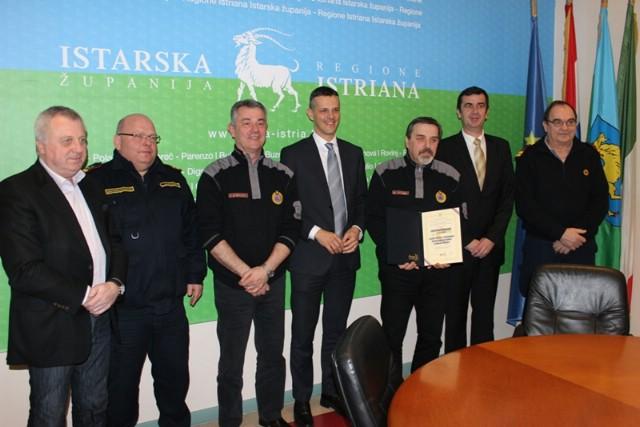 Župan Flego primio predstavnike Službe za zaštitu i spašavanje Istarske županije