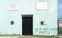 Nepismeni autor grafita na Krvovoj placi