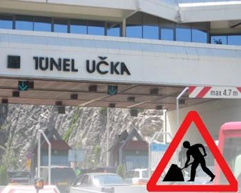 Mokri kolnici u Istri, u tunelu Učka naizmjenično propuštanje prometa 11.i 12.4.