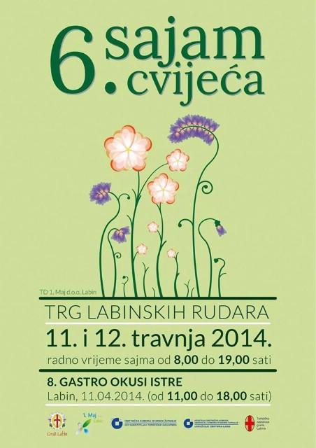 6. Sajam cvijeća i vrtne opreme na Trgu labinskih rudara 11. i 12. travnja 2014.