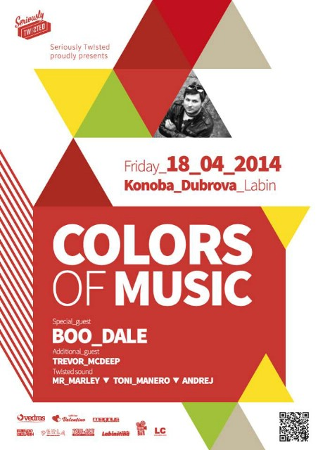 Seriously Tw!sted proudly presents: COLORS OF MUSIC - Spring edition @ Konoba Dubrova, Labin 18.04.2014.