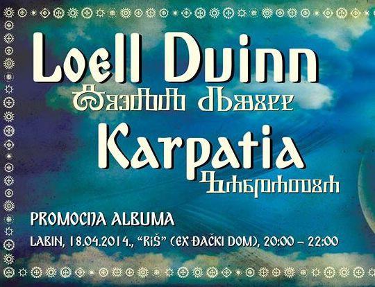 Promocija novog albuma labinskog neo folk benda Loell Duinn