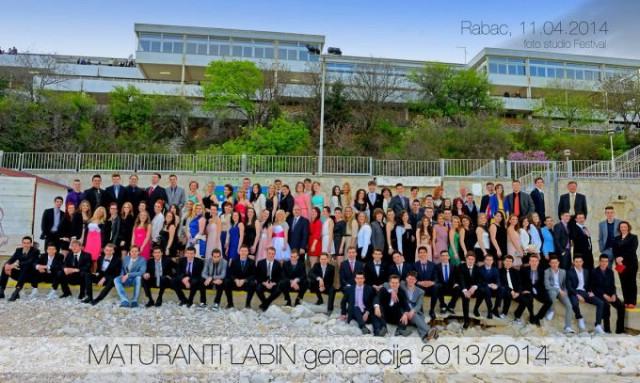 Maturalna zabava generacije maturanata 2013.-2014. održana 11. travnja u Rapcu