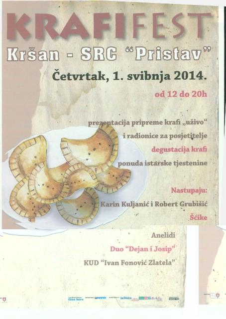 U Kršanu za 1. Maj fešta od krafi i istarske tjestenine