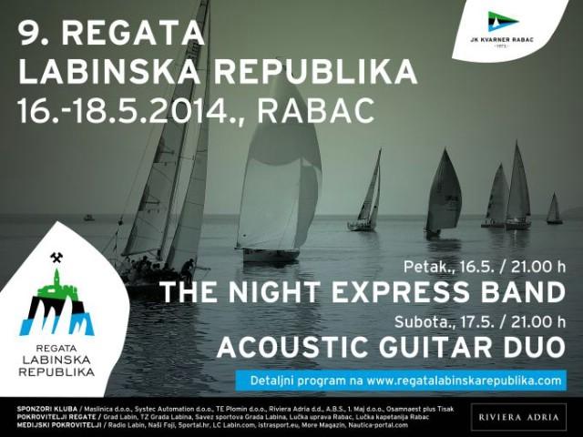 9. regata Labinska republika 16. - 18. svibnja 2014. u Rabačkom akvatoriju / Rabački dan sporta