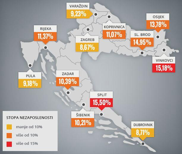 U Istri dvostruko više nezaposlenih nego prije 10 godina