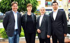 Nansi Tireli, kandidatkinja Hrvatskih laburista za Europski parlament družila se danas s Labinjanima