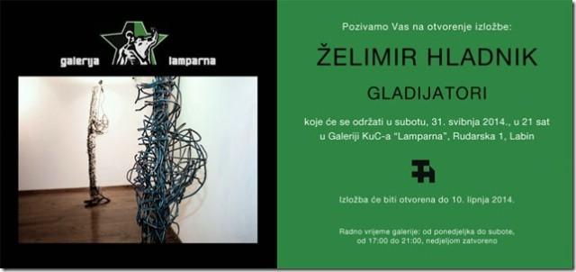 Izložba Želimira Hladnika u Galeriji `Lamparna`