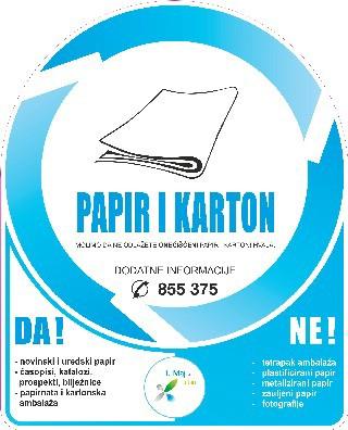 [Obavijest] Odvoz papira i kartona – plave vrećice 1.7. 2014.