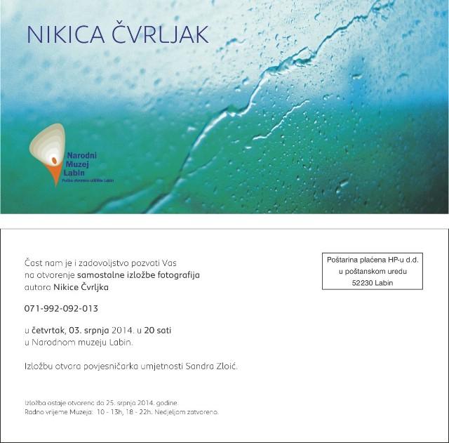 Izložba fotografija Nikice Čvrljka u Narodnom muzeju Labin
