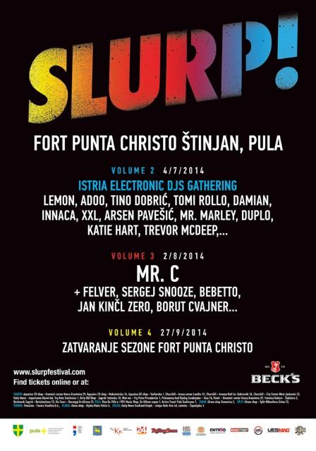 Slurp! vol.2 predstavlja Istria Electronic Music DJs Gathering Fort Punta Christo, 4.7.2014. (Labin predstavljaju Mr. Marley & Tino Dobrić)