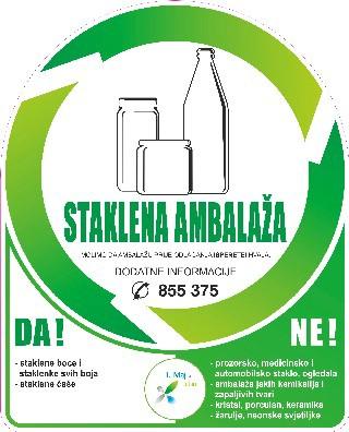 [Obavijest] Sutra (utorak) prikupljanje zelenih vrećica - staklene ambalaže