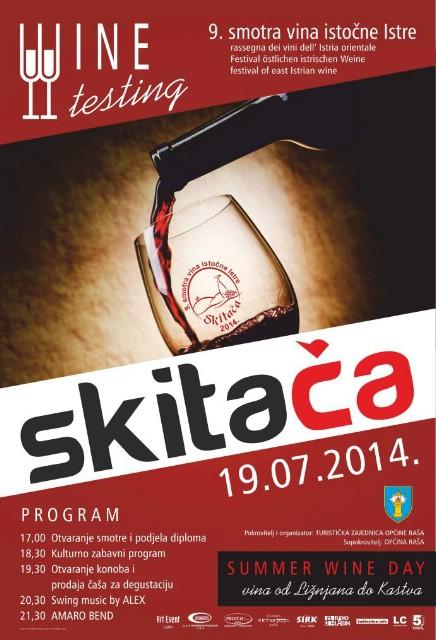 U subotu 9. Smotra vina istočne Istre na Skitači