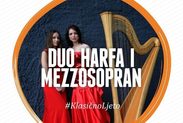 """Večeras koncert """"Duo harfa i mezzosopran"""""""