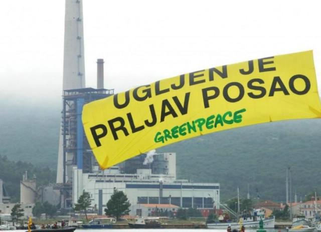Greenpeace u Plominu - `Ugljen je prljav posao`