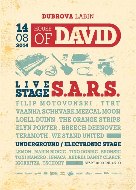 HOUSE OF DAVID w/ S.A.R.S., LEMON, Filip Motovunski... @ Duborva, Labin 14.08.2014.