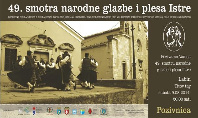 49. Središnja smotra narodne glazbe i plesa Istre uz izravan prijenos na Radio Labinu