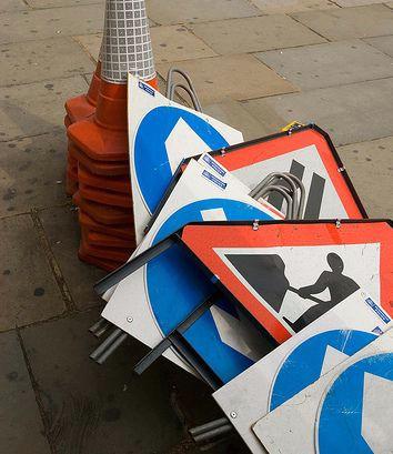 Na cesti kod Gračišća Pićanci ukrali dva prometna znaka