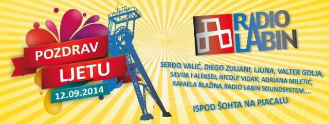 """Prva manifestacija  """"Pozdrav ljetu"""" u organizaciji Radio Labina i prijatelja 12. 09. 2014. ispod šohta na Pijacalu"""