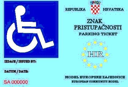 Kontrola parkirnih mjesta za osobe s invaliditetom