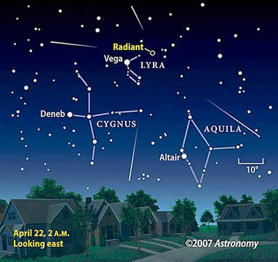 Večeras se meteori Liridi  mogu opažati i golim okom