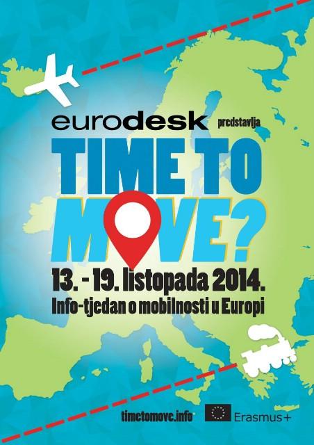 """Obilježavanje """"Time to move?"""" kampanje u Labinu / Informiraj se o mogućnostima za mobilnost u Europi, u tjednu od 13. do 19. listopada!"""