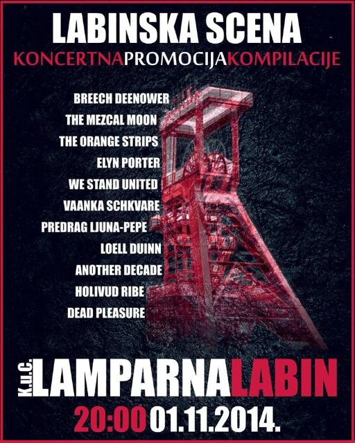 Koncertna promocija CD kompilacije `LABINSKA SCENA Vol.1` - 01. 11. 2014. @ KUC Lamparna