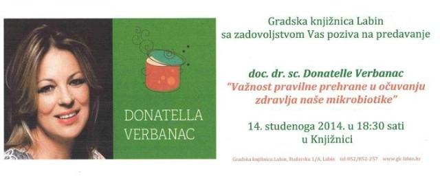 Predavanje doc. dr. sc. Donatelle Verbanac 14.11.2014. u Gradskoj knjižnici Labin