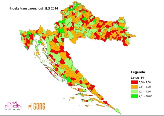 Labin peti po transparentnosti u Republici Hrvatskoj