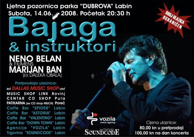 Bajaga, Belan i Ban na Ljetnoj pozornici Dubrova u Labinu!