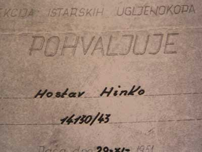 U Labinu pokopan Hinko Hostar, njemački 'gastarbajter' u ugljenokopima Raša