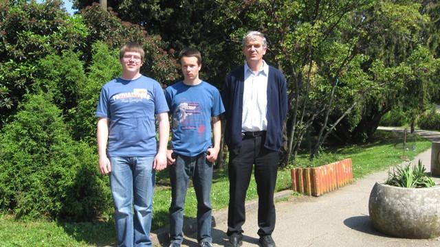 Dean Barbić i Mateo Lazarić,jedini iz Istre najtjecali su se u kategoriji samostalnih istraživačkih radova iz fizike