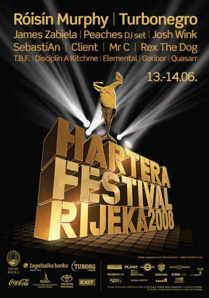 Hartera4 Festival, Rijeka 13. & 14.06.2008. Line up i satnica