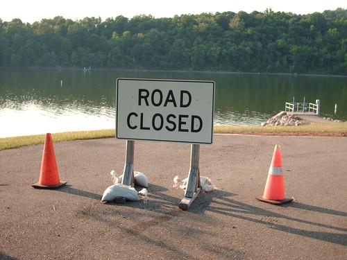 Obavijest o zatvaranju ceste u Rapcu