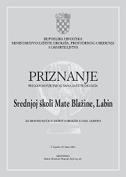 Objavljen Javni poziv za podnošenje prijedloga javnih  priznanja Grada Labina