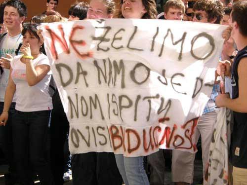 Osvrt Poglavarstva na prosvjed učenika