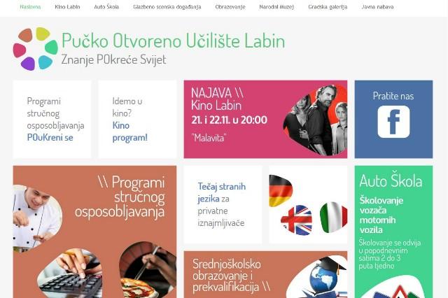 Nova web stranica POU Labin prilagođena modernim vremenima