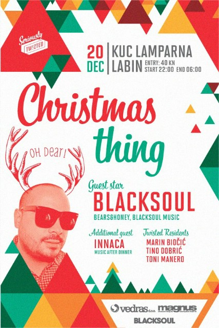 CHRISTMAS THING w/ BLACKSOUL @ KuC Lamparna, Labin 20.12.2014.