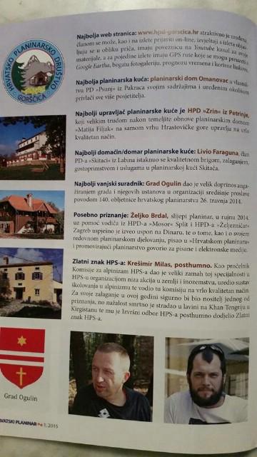 Livio Faraguna iz labinskog PD Skitaci najbolji domaćin planinarske kuće po izboru HPD-a za 2014. godinu