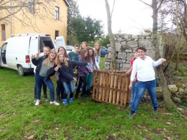 Eko grupa OŠ I.L. Ribar izgradila kompostište u PŠ Vinež