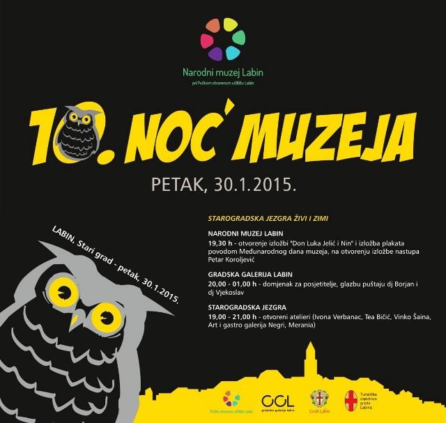 Labin se priključuje manifestaciji 10. Noć muzeja 30. siječnja 2015. pod geslom `Starogradska jezra živi i zimi`