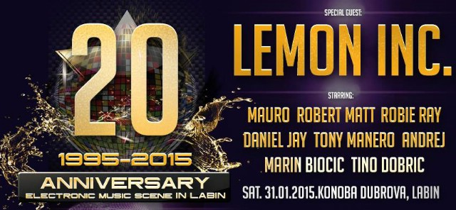 20 godina postojanja elektronske glazbene scene na Labinštini 31. 1. 2015. @ Dubrova Labin