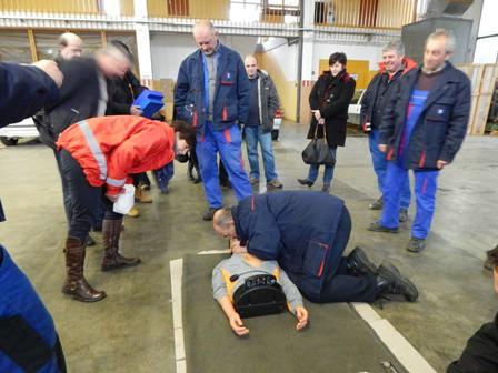 Gradsko društvo Crvenog križa Labin na vježbi evakuacije i spašavanja u labinskom Pogonu Elektroistre