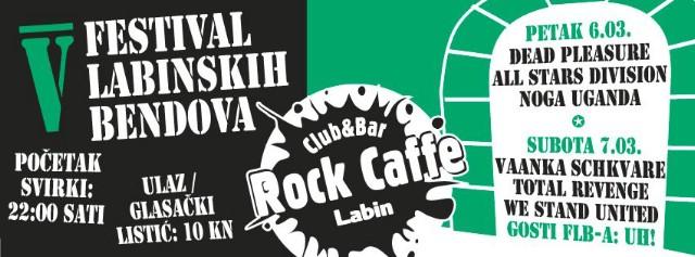 5. Festival labinskih bendova ovog vikenda u Rock Caffeu Labin