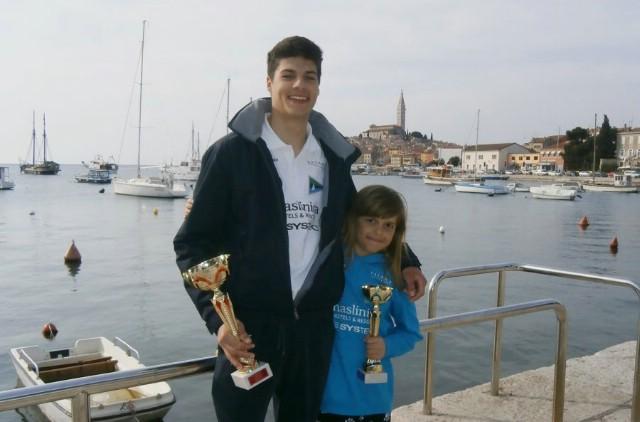 Antonio Milevoj najbolji u klasi Laser 4.7, Manola Miletić treća u konkurenciji djevojčica do 12 godina na KUP-u Rovinja