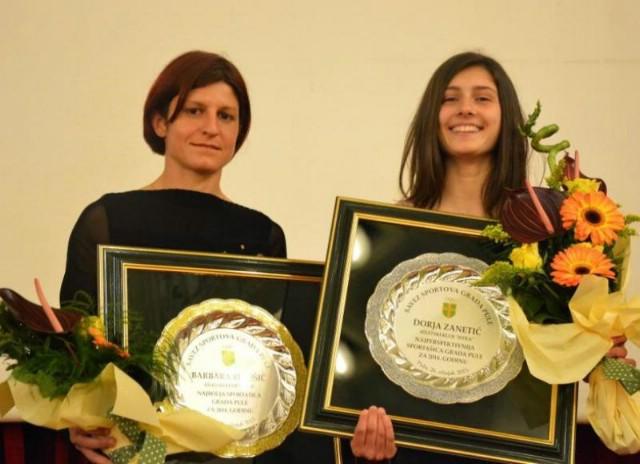 Labinjanka Barbara Belušić prograšena najboljom sportašicom Grada Pule za 2014. godinu